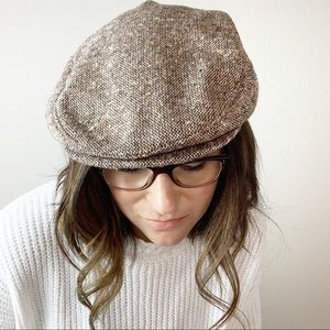Vintage brown newsboy hat